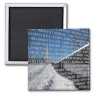 Vietnam Memorial Wall 2 Inch Square Magnet