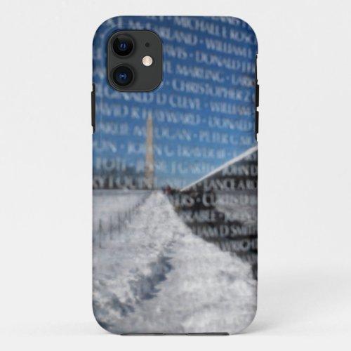 Vietnam Memorial Wall During Winter Phone Case