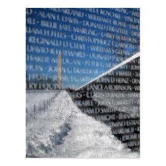 Vietnam Memorial Wall Postcard