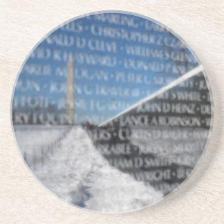 Vietnam Memorial Wall Reflection Drink Coaster