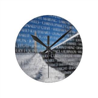 Vietnam Memorial Wall Round Clock