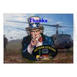Vietnam nam war veterans vets patch greeting card