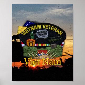 Vietnam Nam War Veterans Vets Patch Print