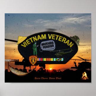 Vietnam Nam War Vets Veterans Patch Poster
