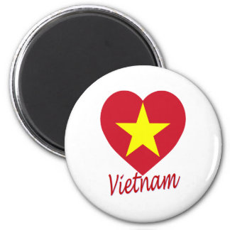 Vietnam (North) Flag Heart Magnet