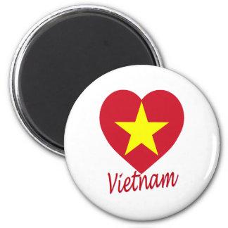 Vietnam (North) Flag Heart Refrigerator Magnets