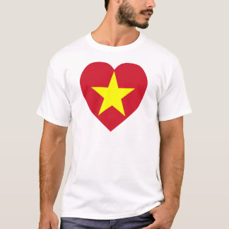 Vietnam (North) Flag Heart T-Shirt