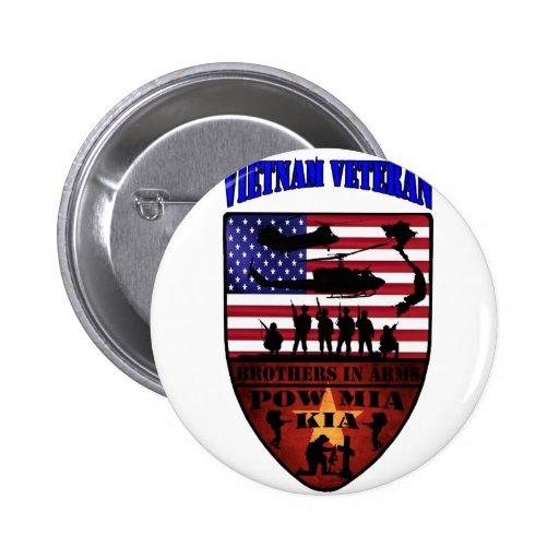 Vietnam of veteran 2 inch round button