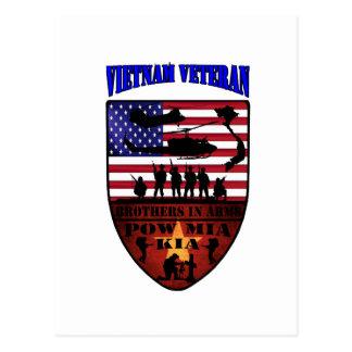 Vietnam of veteran postcard
