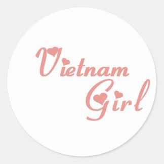 Vietnam Pegatinas Redondas