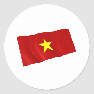 Vietnam Pegatina Redonda