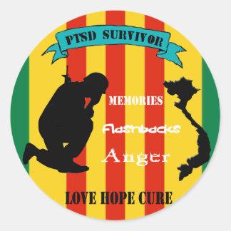 Vietnam PTSD Survivor Stickers