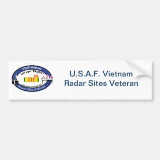 Vietnam Radar Sites Veteran Insignia-2 Bumper Sticker