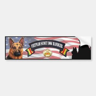 Vietnam Scout Dog Handler Bumper Sticker