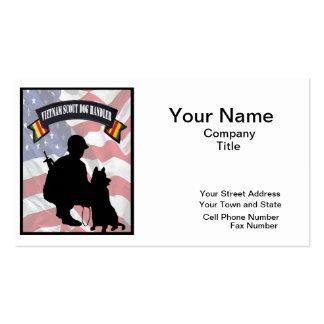 Vietnam Scout Dog Handler Business Cards