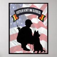 Vietnam Scout Dog Handler Poster