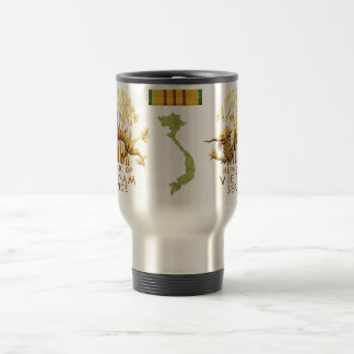 Vietnam Service Dragon and map 15 Oz Stainless Steel Travel Mug