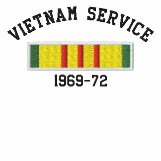 Vietnam Service Embroidered Hooded Sweatshirt