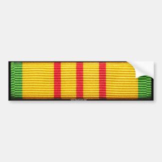 Vietnam Service Medal Car Bumper Sticker