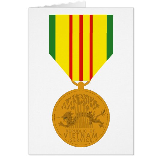 Vietnam Service Medal Card