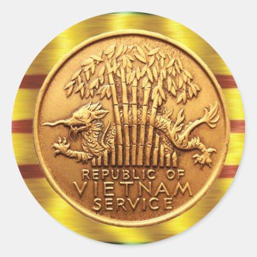 Vietnam service medal sticker