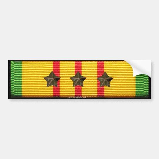 Vietnam service ribbon 3 campaign stars bumper sticker