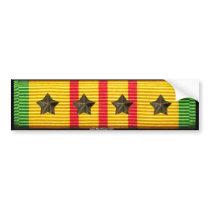 Vietnam Service Ribbon - 4 Campaign Stars Bumper Sticker