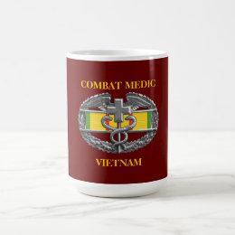 Vietnam Service Ribbon Background CMB Mug