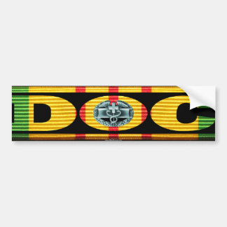 Vietnam Service Ribbon DOC with CMB Bumper Sticker