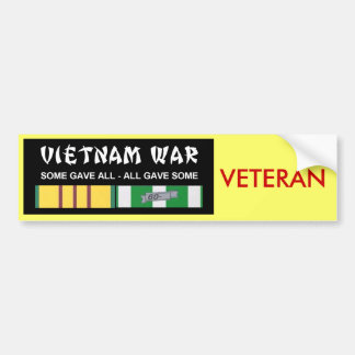 VIETNAM SERVICE RIBBONS - VET BUMPER STICKER