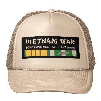 VIETNAM SERVICE RIBBONS - VET TRUCKER HAT