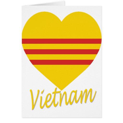 Vietnam (South) Flag Heart Greeting Card