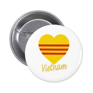Vietnam (South) Flag Heart Pins