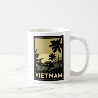 vietnam southeast asia art deco retro travel classic white coffee mug