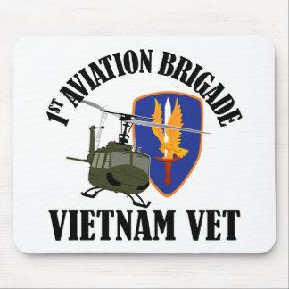 Vietnam Vet - 1st AVN BDE UH-1 Mouse Pad