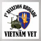 Vietnam Vet - 1st AVN BDE UH-1 Poster