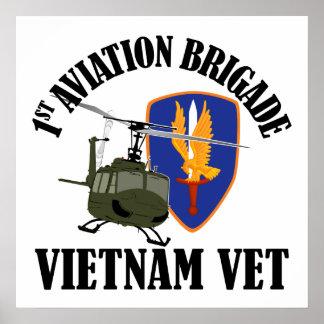 Vietnam Vet - 1st AVN BDE UH-1 Posters