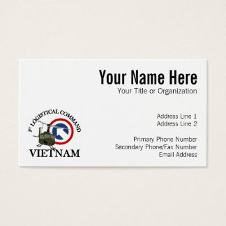Vietnam Vet - 1st Log Cmd Business Card