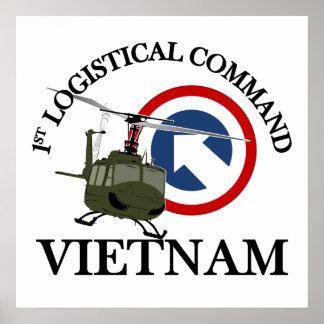 Vietnam Vet - 1st Log Cmd Posters