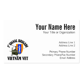 Vietnam Vet - 1st Sig Bde Business Card Template