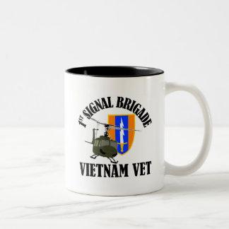 Vietnam Vet - 1st Sig Bde Two-Tone Coffee Mug