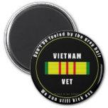 Vietnam Vet 2 Inch Round Magnet