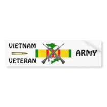 Vietnam Vet ARMY Bumper Sticker