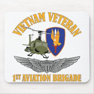 Vietnam Vet Aviator Wings Mouse Pad