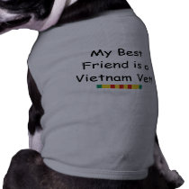 Vietnam Vet Best Friend Dog T-shirt