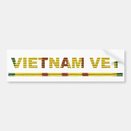 Vietnam Vet Car Bumper Sticker