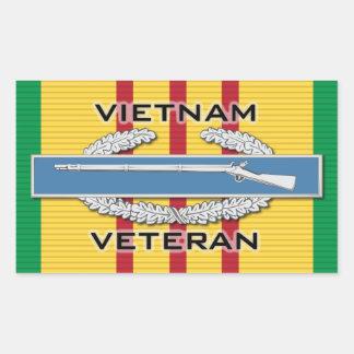 Vietnam Vet CIB Rectangular Sticker