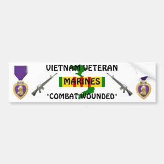 VIETNAM VET Combat Wounded Bumper Sticker
