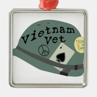 Vietnam Vet Metal Ornament