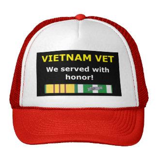 VIETNAM VET - SERVED WITH HONOR! TRUCKER HAT